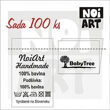 Drobnosti - Textilná etiketa 5x3 cm sada 100 ks - 2731081