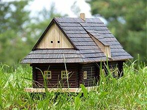 Dekorácie - Miniatúrna slovenská drevenica - drevený domček - 2731680