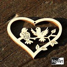 Dekorácie - Srdiečko s vtáčikmi - 273667