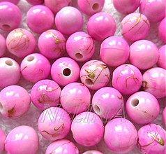 Korálky - Plast 8mm-20ks (ružová) - 2742420