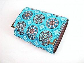 Peňaženky - Tyrkysový kaleidoskop - až na 12 karet:-) - 2745117