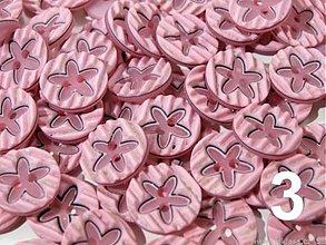 Galantéria - Gombík kvetina ružový PC-0,05 - 2745641