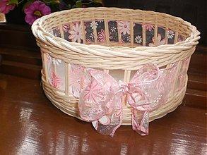 Košíky - Guľatý- ružovučký....nežný.... - 2746118