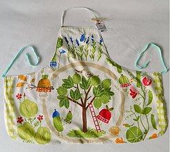 Detské oblečenie - Detská zásterka - zeleninová hriadka - 2749120