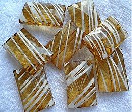 Korálky - Prúžok plast 19x30mm-1ks - 2751301
