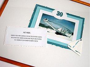 Papiernictvo - Originálny obraz s vinšami pre kapitána - oslávenca - 2753123
