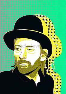 Grafika - Portrét Thom Yorke - 1 originál - 2755354