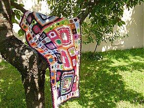 Úžitkový textil - Háčkovaná deka Romanko☺ - 2755871