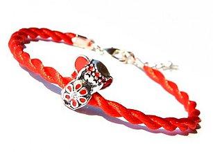 Náramky - anjelik červený kabbalah náramok - 2755993