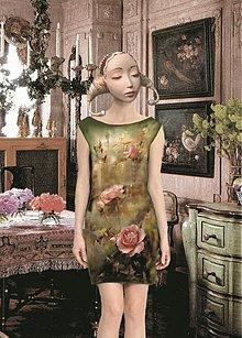 """Šaty - Ručne maľované šaty """"Vôňa ruže"""" - 2761473"""