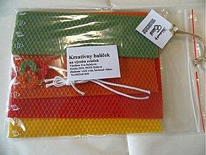 Materiál ručne robený - Kreativný balíček sviečka - 2761485