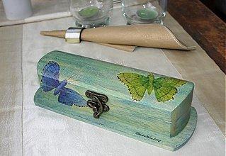Krabičky - púzdro na okuliare/peračník motýle - SKLADOM - 2764165
