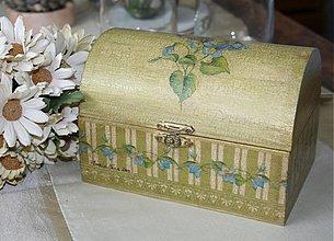 Krabičky - truhlica fialky- SKLADOM - 2764206