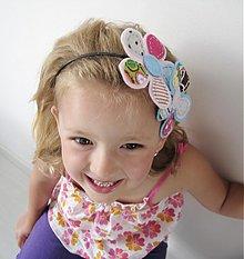 Ozdoby do vlasov - Čelenka s veľkými kvietkami - 2764541