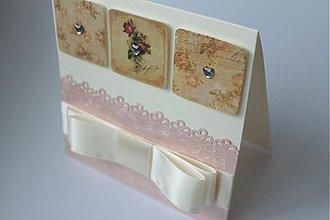 Papiernictvo - Svadobná pohľadnica v ružových tónoch - 2766236