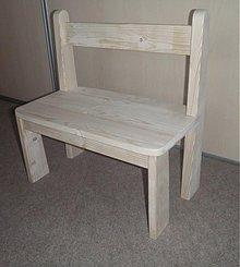 Nábytok - Detská drevená lavička - 2769264