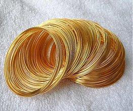Suroviny - Pamäť.drôt 55mm-zlatý-100 ot. - 2769556