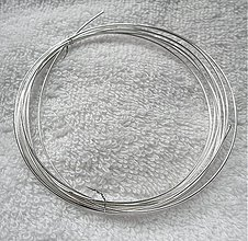 Suroviny - Postriebrený drôt 0,8mm-1m - 2769562