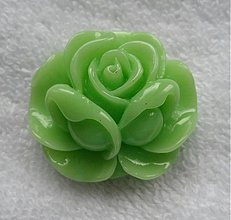 Korálky - Kvet plast/kabošon 36x16mm-1ks - 2770782