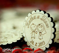 Darčeky pre svadobčanov - Svadobné magnetky - 2772004