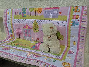Textil - Ružová panelová deka pre bábätko - 2773697