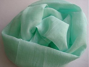 Šály - Šál jemnučko zelený 140 x 50 cm - 2777582
