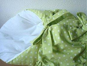 Textil - Perinka bledo zelená bodka - 2777980