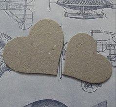 Materiál ručne robený - Kartónové srdiečka č. 7 - 2787104