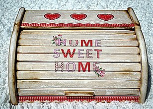Nádoby - Chlebník Home sweet home-schabby chic - 2788436