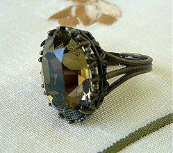Prstene - Swarovski Smoky Quartz - 2788514