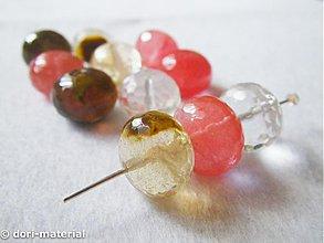 Korálky - rondelky fire cherry krištáľu, 10 x 14 mm - 2789418