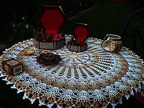 Úžitkový textil - Evelína - háčkované prestieranie - 2789515