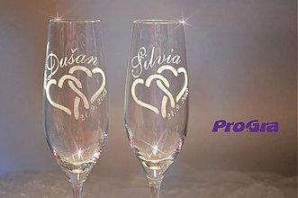 Nádoby - Carmelitta - svadobné poháre - 2ks - 2789676