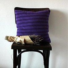 Úžitkový textil - 100% kašmírový vankúš z recy svetra - 2790537