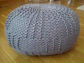 Úžitkový textil - Šedý puf - 2793612
