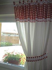 Úžitkový textil - Záves kombinovaný s čipkou / 2 ks / - 2801863