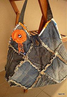 Veľké tašky - Riflová strapatá - 2803381