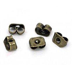 Komponenty - Zarážky motýliky B14223/ bronz/ 100ks - 2803871