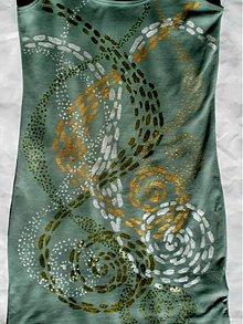 Šaty - Stretnutie špirál - tričkošaty - 2804765