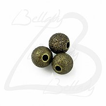 Korálky - KKO3119, Kovová KORÁLKA Lynette 4mm BRONZ /10ks - 2807478