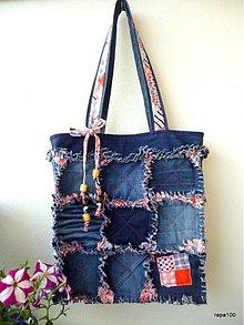 Veľké tašky - Strapatá riflová - 2810459