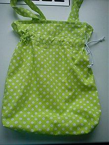 Veľké tašky - zelená bodka - 2811817