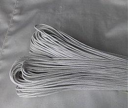 Galantéria - Šnúrka voskovaná, 1.5mm, 0.15€/meter - 2813210