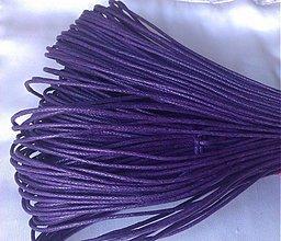Galantéria - Šnúrka voskovaná fialová, 1.5mm, 0.15€/meter - 2813377