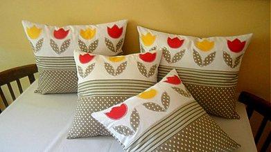 Úžitkový textil - vankúšiky s tulipánmi - 2816778