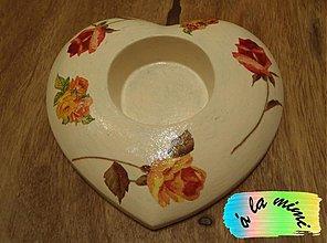 Svietidlá a sviečky - Srdce plné ruží - 2819966