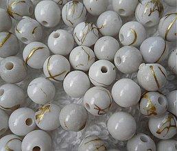Korálky - Plast.korálky 6mm-50ks - 2820050