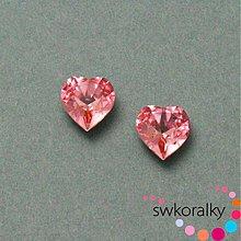 Korálky - SRDÍČKO kámen 11x10 mm SWAROVSKI ® ELEMENTS 4831 Light rose - 2824182