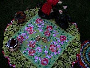 Úžitkový textil - Rosemary - vyšívané a obháčkované prestieranie - 2826963