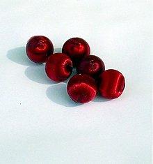 Korálky - textilná korálka, 1,5 cm, 1 ks - 2828280
